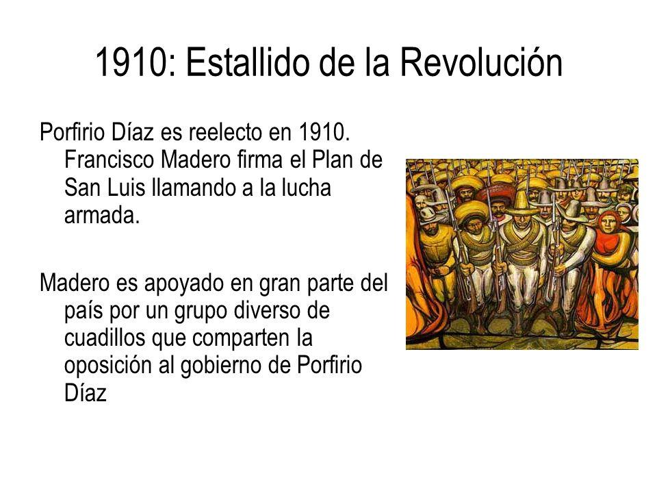 1910: Estallido de la Revolución