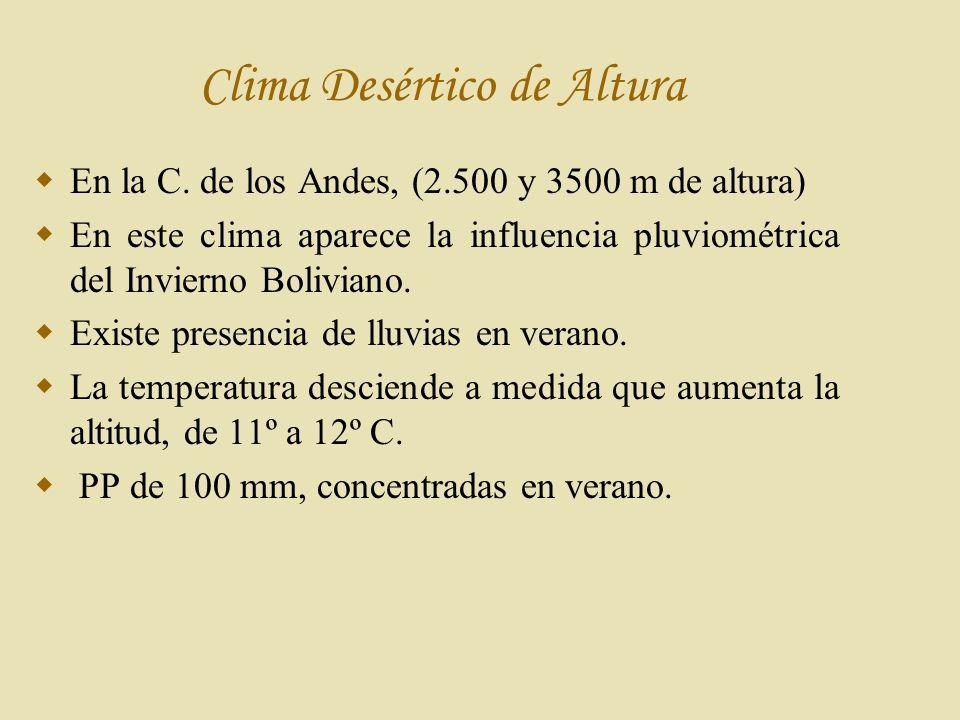 Clima Desértico de Altura