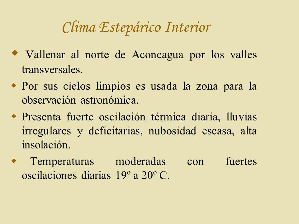 Clima Estepárico Interior