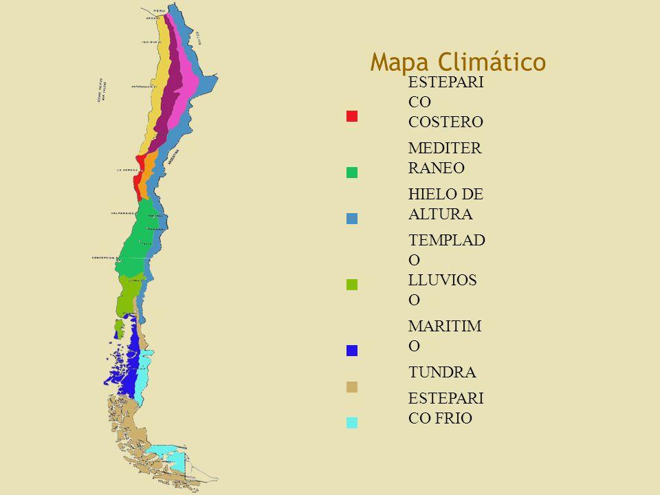 Mapa Climático LEYENDA DESERTICO NORMAL DESIERTO COSTERO
