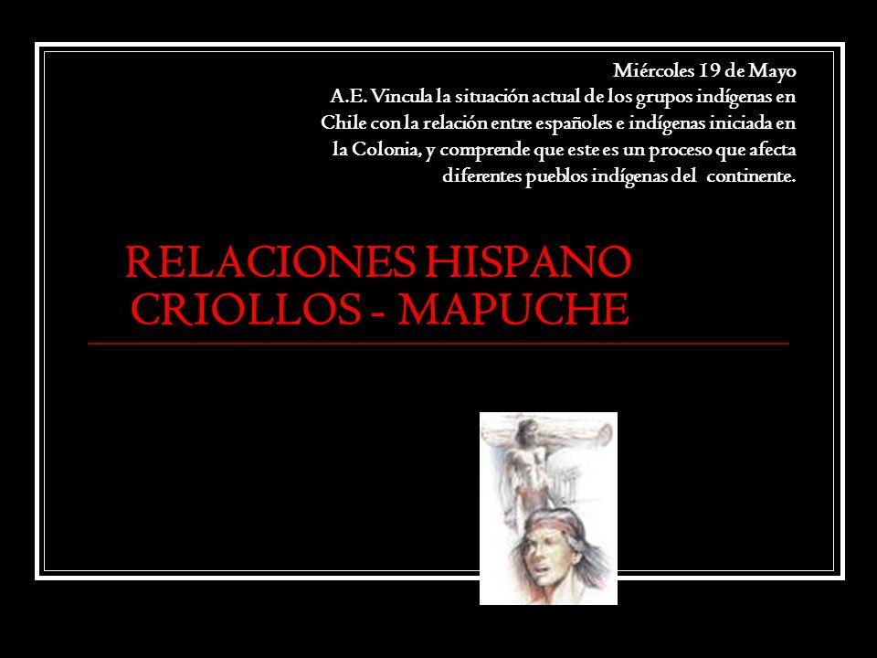 RELACIONES HISPANO CRIOLLOS - MAPUCHE