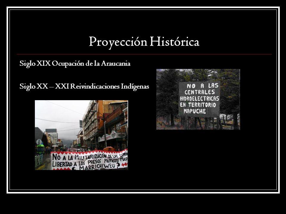 Proyección Histórica Siglo XIX Ocupación de la Araucania