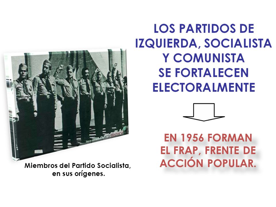 Miembros del Partido Socialista,