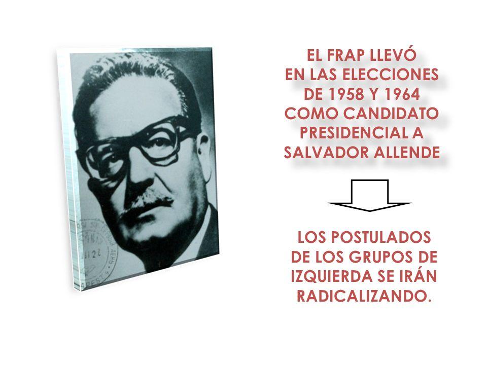COMO CANDIDATO PRESIDENCIAL A SALVADOR ALLENDE