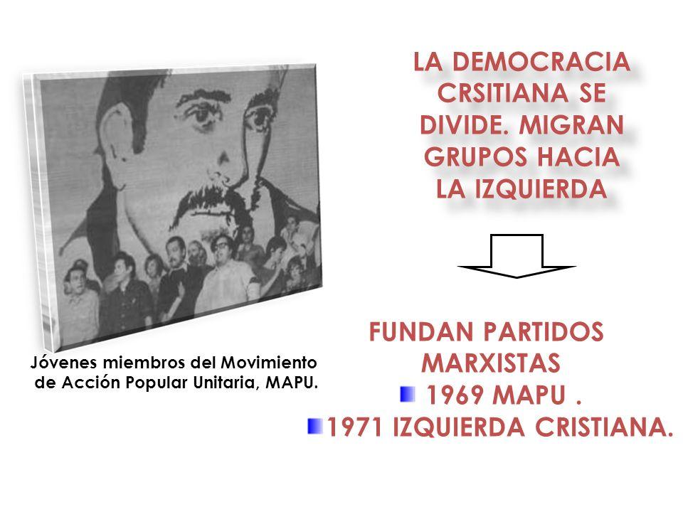 LA DEMOCRACIA CRSITIANA SE DIVIDE. MIGRAN GRUPOS HACIA LA IZQUIERDA