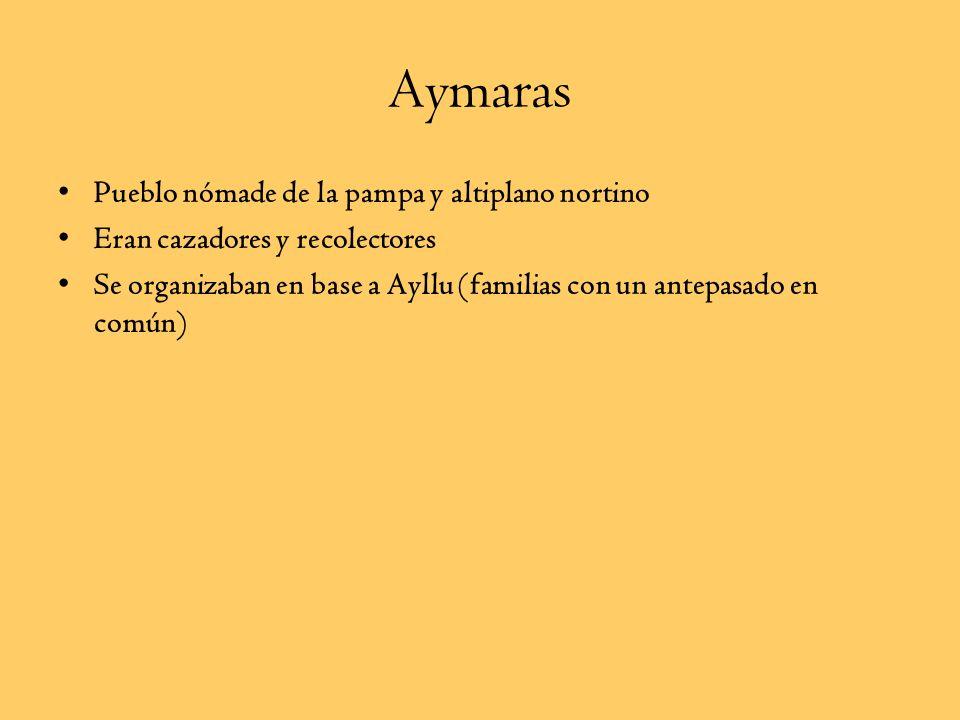 Aymaras Pueblo nómade de la pampa y altiplano nortino