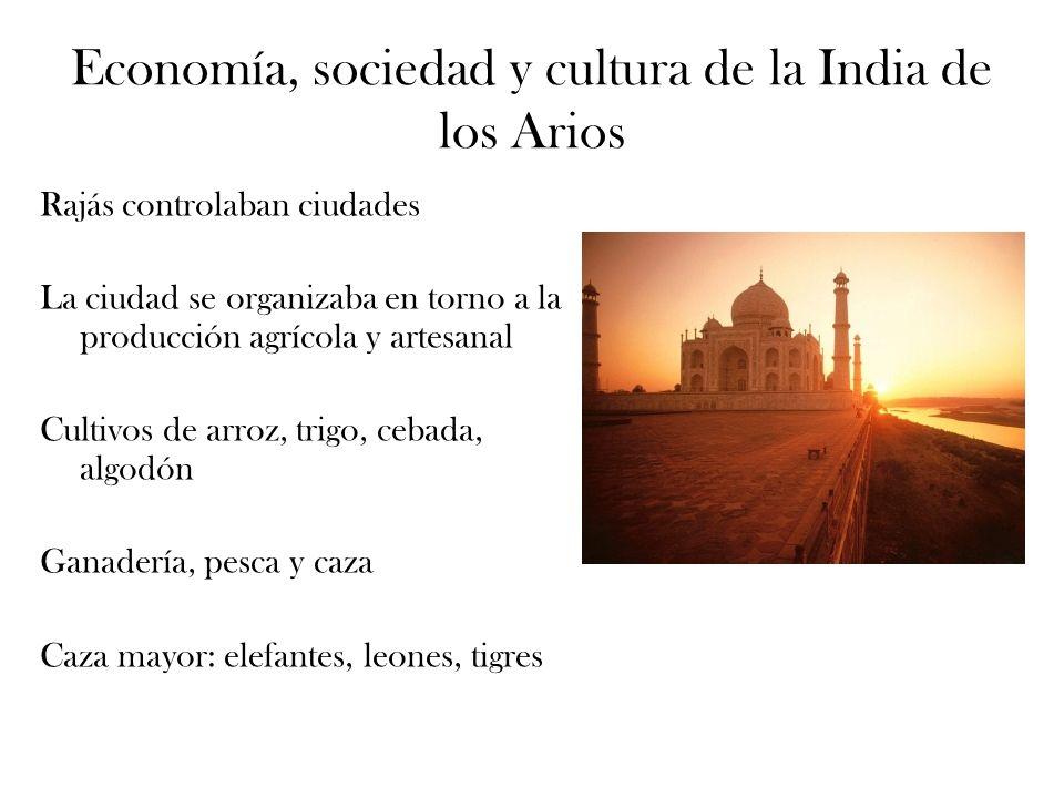 Economía, sociedad y cultura de la India de los Arios