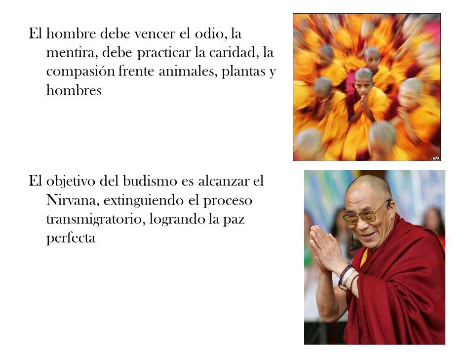 El hombre debe vencer el odio, la mentira, debe practicar la caridad, la compasión frente animales, plantas y hombres