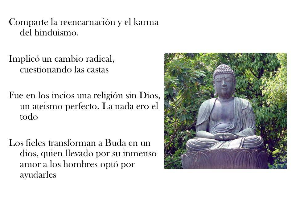 Comparte la reencarnación y el karma del hinduismo.
