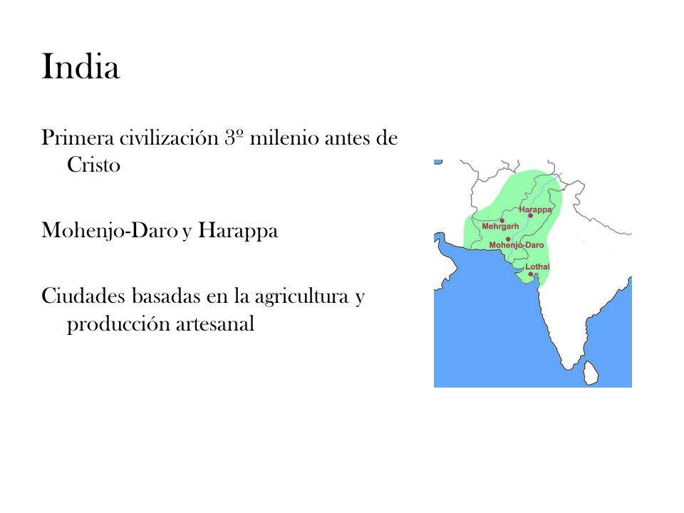 India Primera civilización 3º milenio antes de Cristo