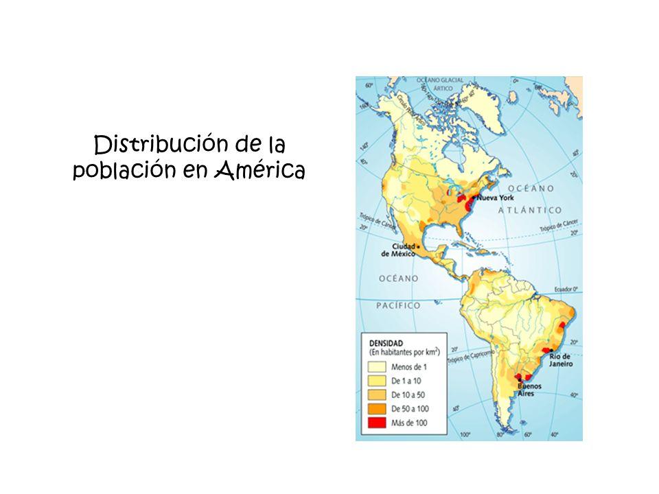 Distribución de la población en América