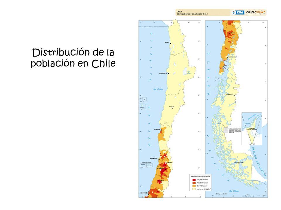Distribución de la población en Chile