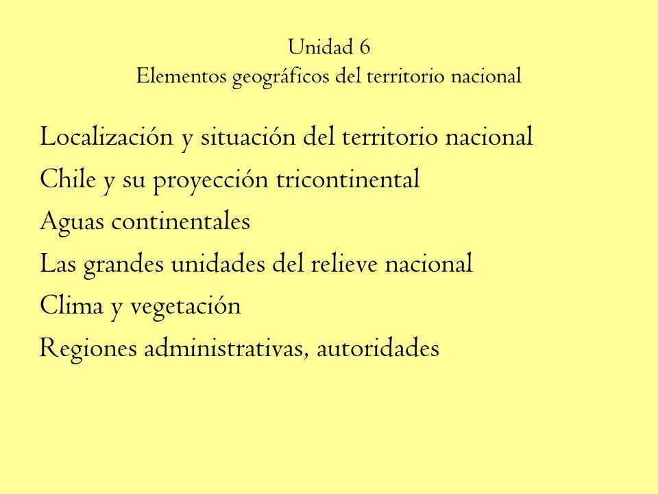 Unidad 6 Elementos geográficos del territorio nacional
