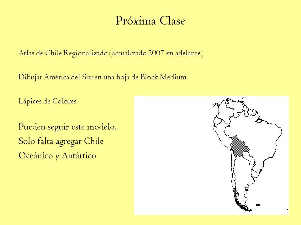 Próxima Clase Pueden seguir este modelo, Solo falta agregar Chile
