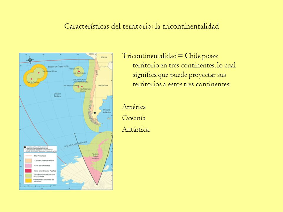 Características del territorio: la tricontinentalidad