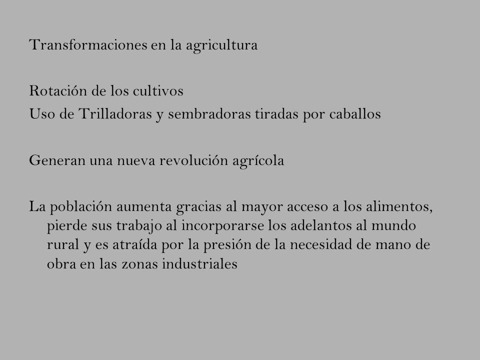 Transformaciones en la agricultura