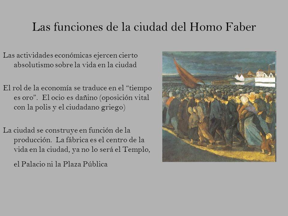 Las funciones de la ciudad del Homo Faber