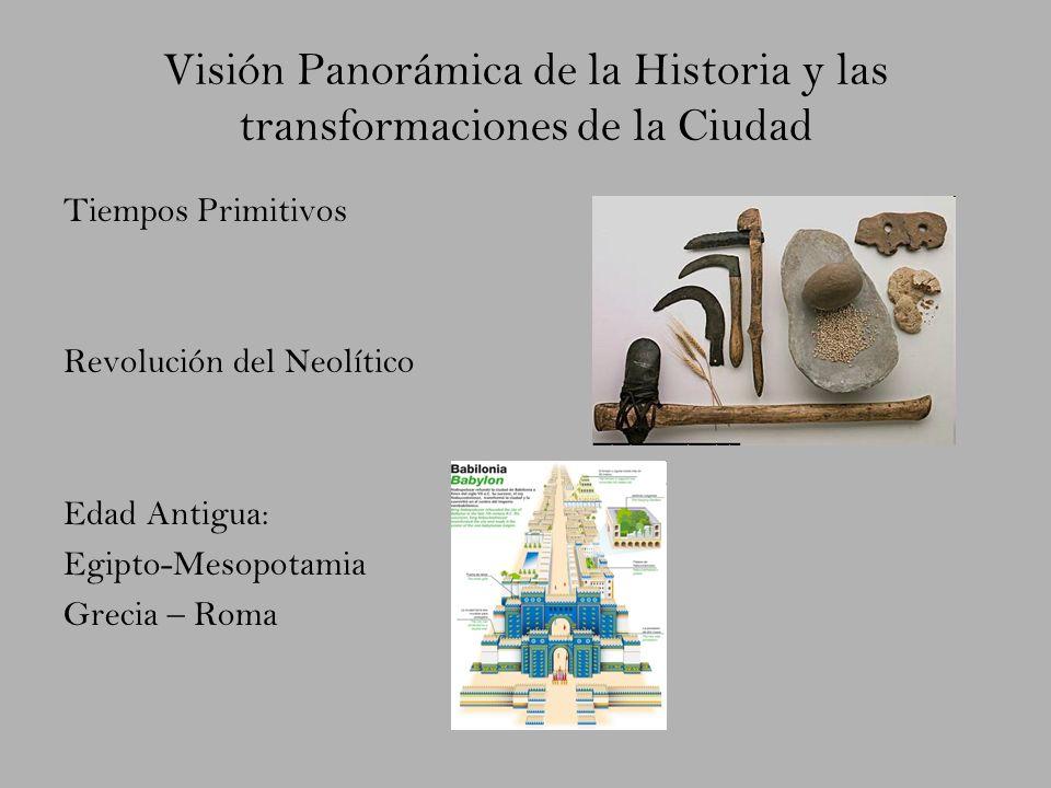 Visión Panorámica de la Historia y las transformaciones de la Ciudad