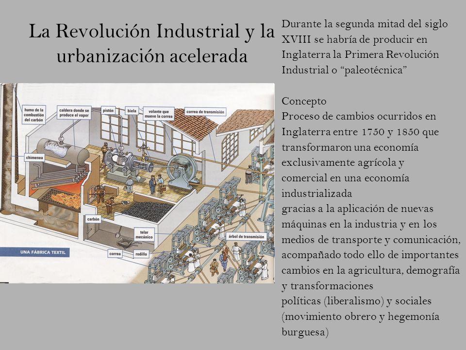 La Revolución Industrial y la urbanización acelerada
