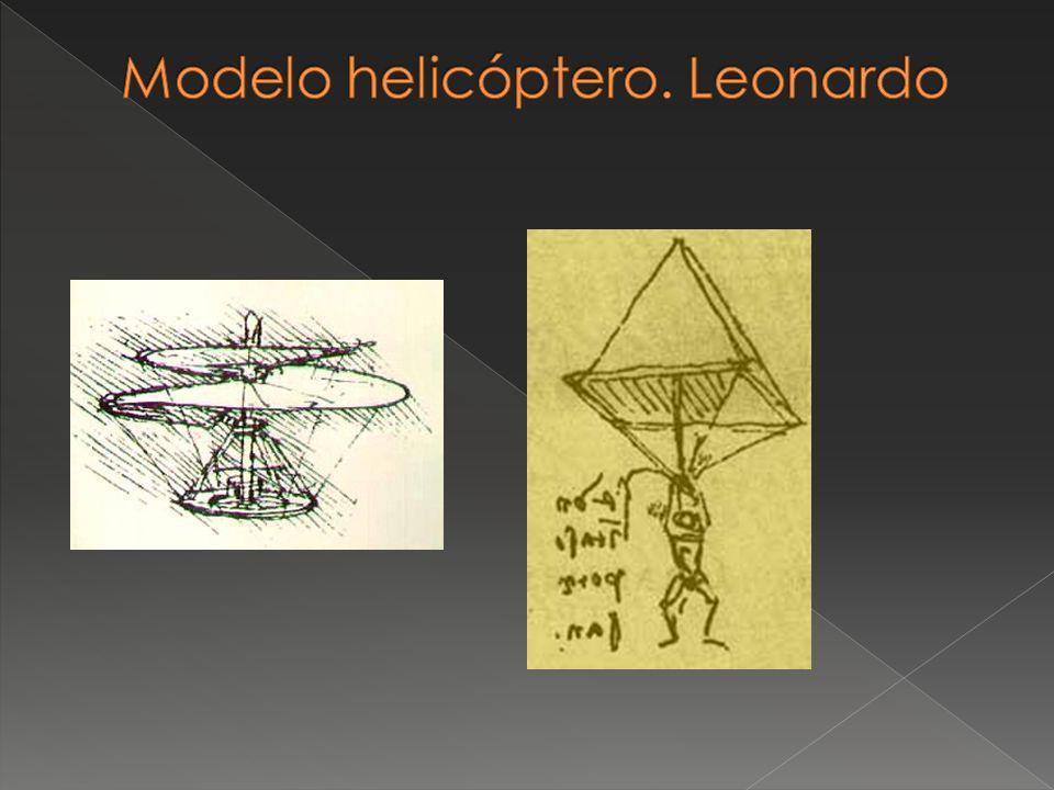 Modelo helicóptero. Leonardo