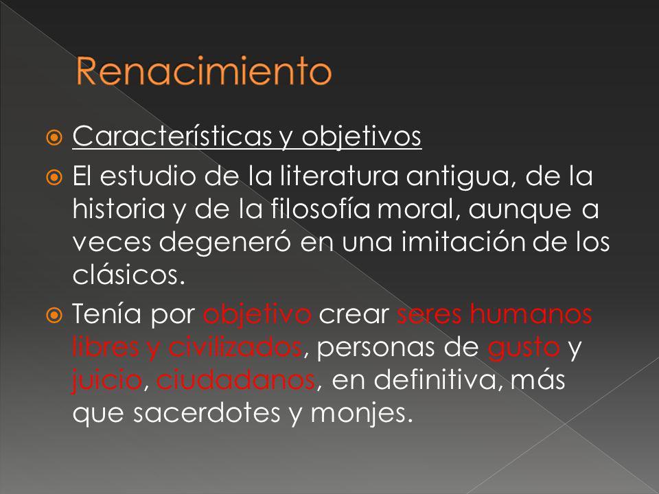 Renacimiento Características y objetivos