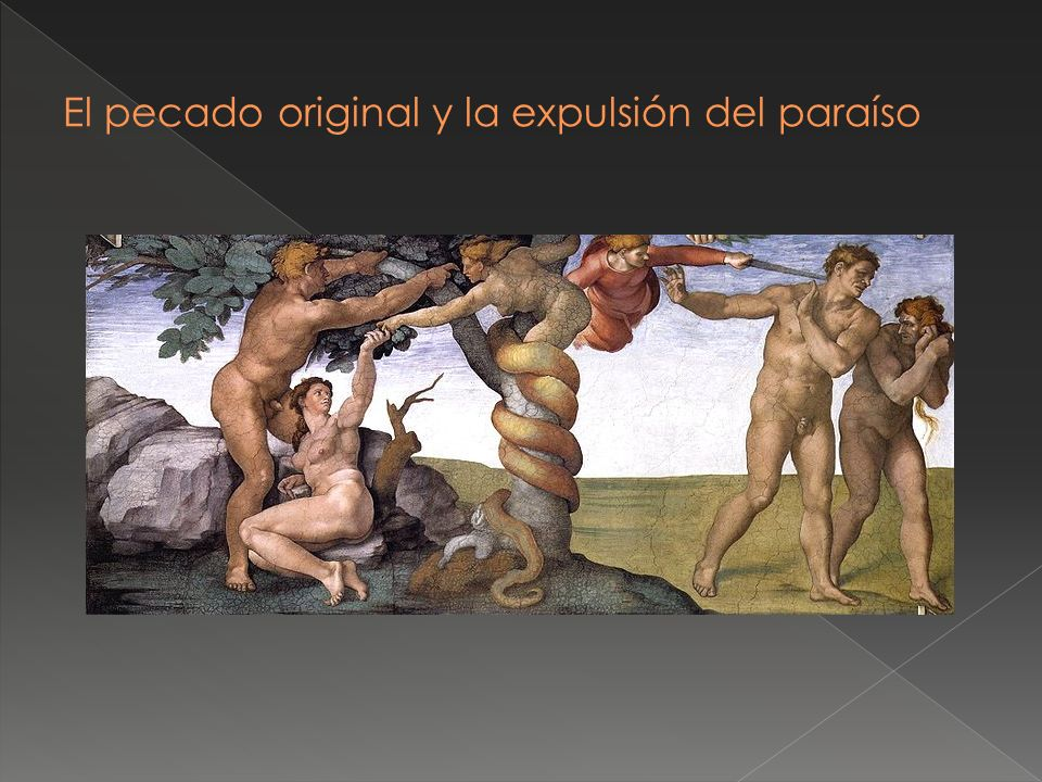 El pecado original y la expulsión del paraíso