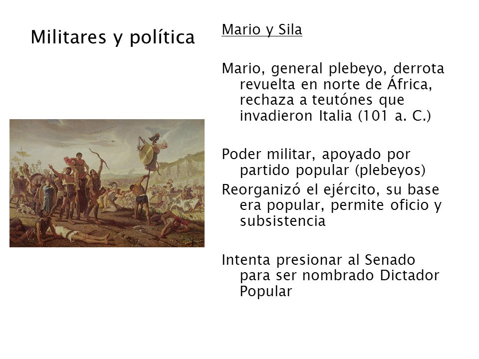 Militares y política Mario y Sila