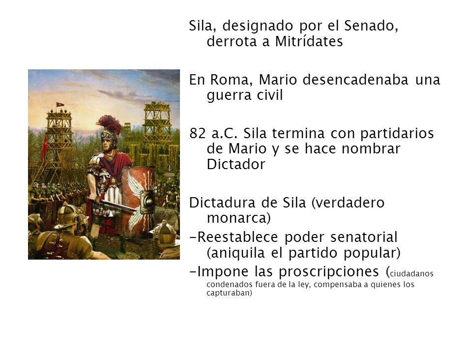 Sila, designado por el Senado, derrota a Mitrídates