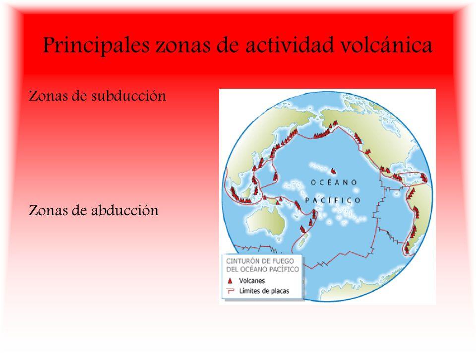 Principales zonas de actividad volcánica