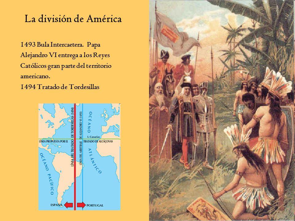 La división de América 1493 Bula Intercaetera. Papa