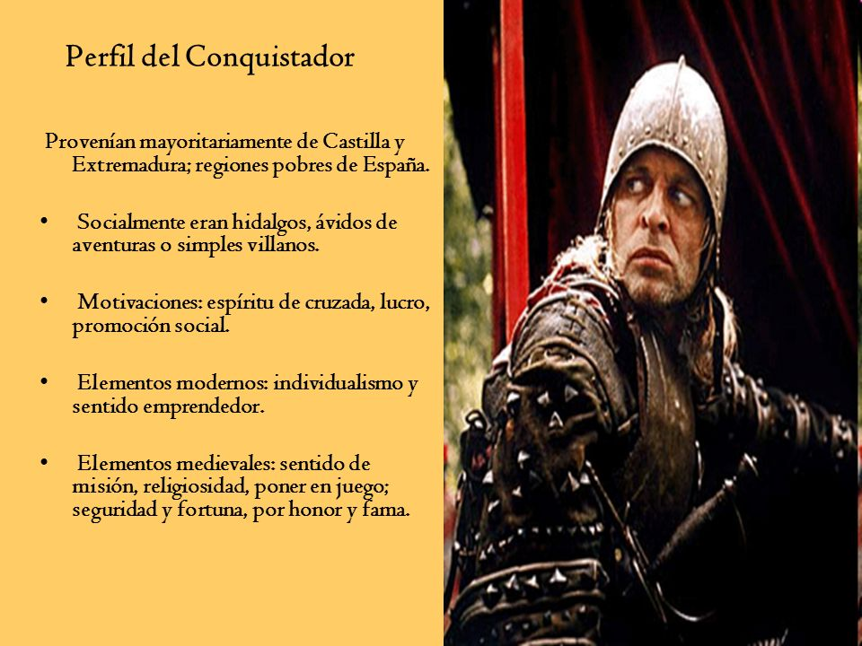 Perfil del Conquistador