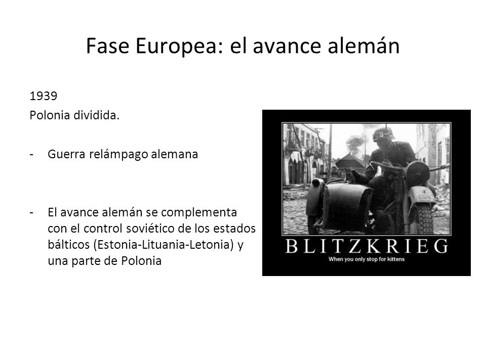 Fase Europea: el avance alemán
