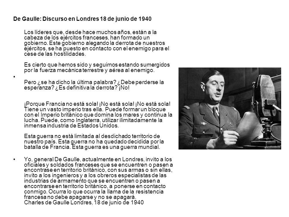 De Gaulle: Discurso en Londres 18 de junio de 1940