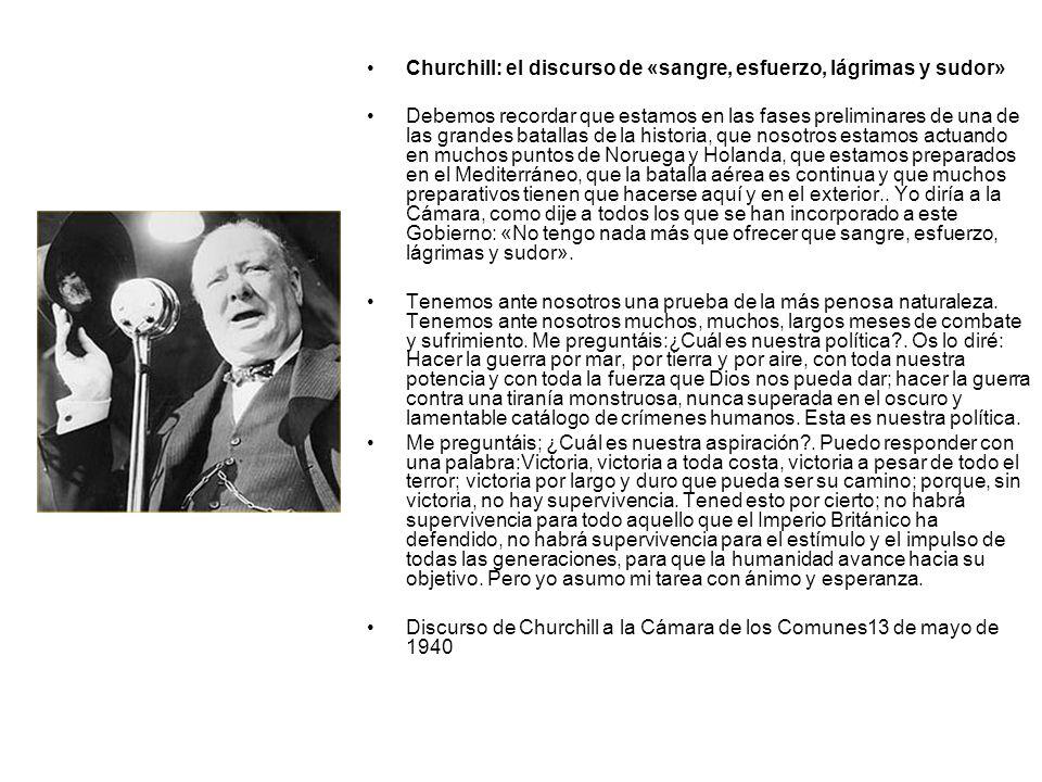 Churchill: el discurso de «sangre, esfuerzo, lágrimas y sudor»