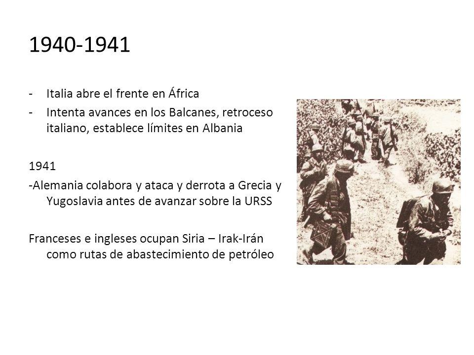 1940-1941 Italia abre el frente en África