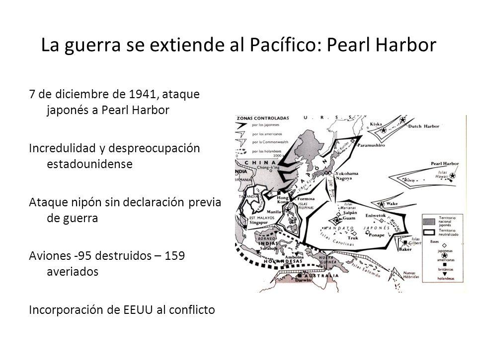 La guerra se extiende al Pacífico: Pearl Harbor