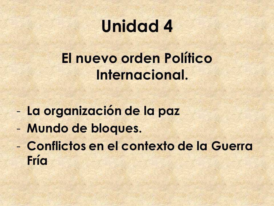 El nuevo orden Político Internacional.