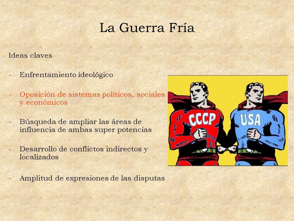 La Guerra Fría Ideas claves Enfrentamiento ideológico