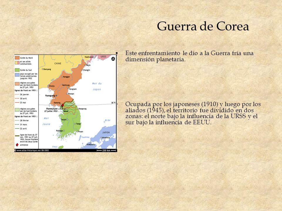 Guerra de CoreaEste enfrentamiento le dio a la Guerra fría una dimensión planetaria.