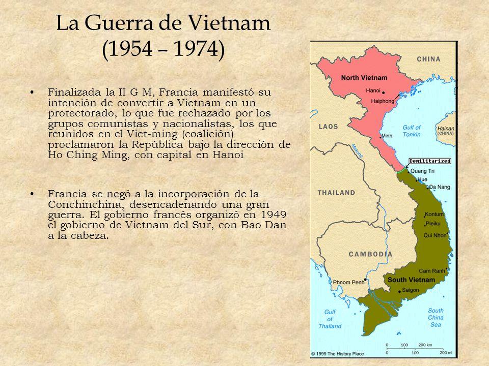 La Guerra de Vietnam (1954 – 1974)