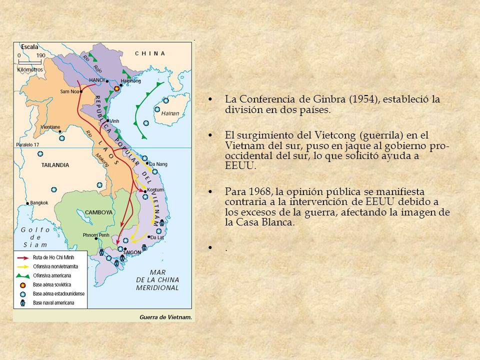 La Conferencia de Ginbra (1954), estableció la división en dos países.