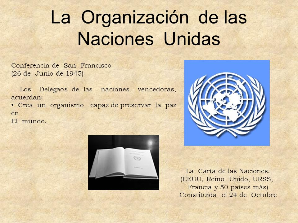 La Organización de las Naciones Unidas