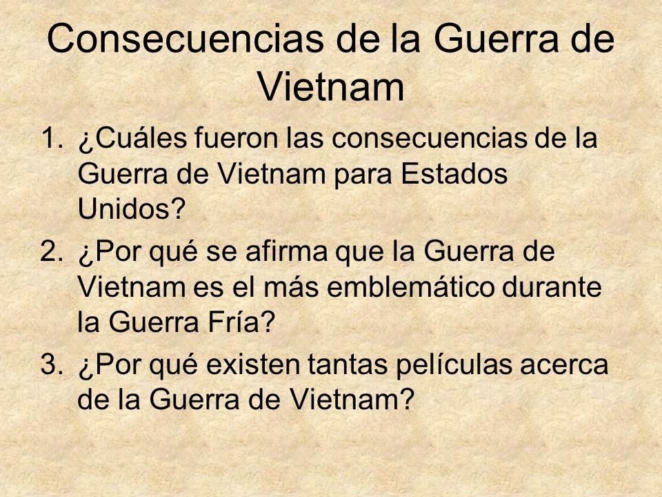 Consecuencias de la Guerra de Vietnam