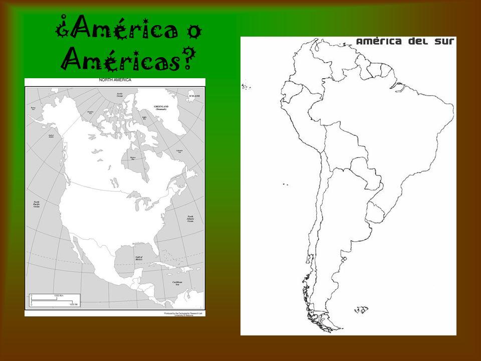 ¿América o Américas