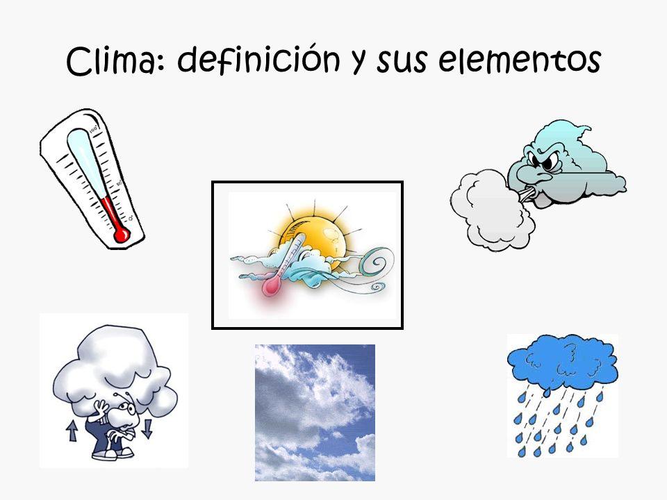 Clima: definición y sus elementos