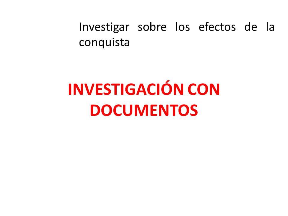 INVESTIGACIÓN CON DOCUMENTOS