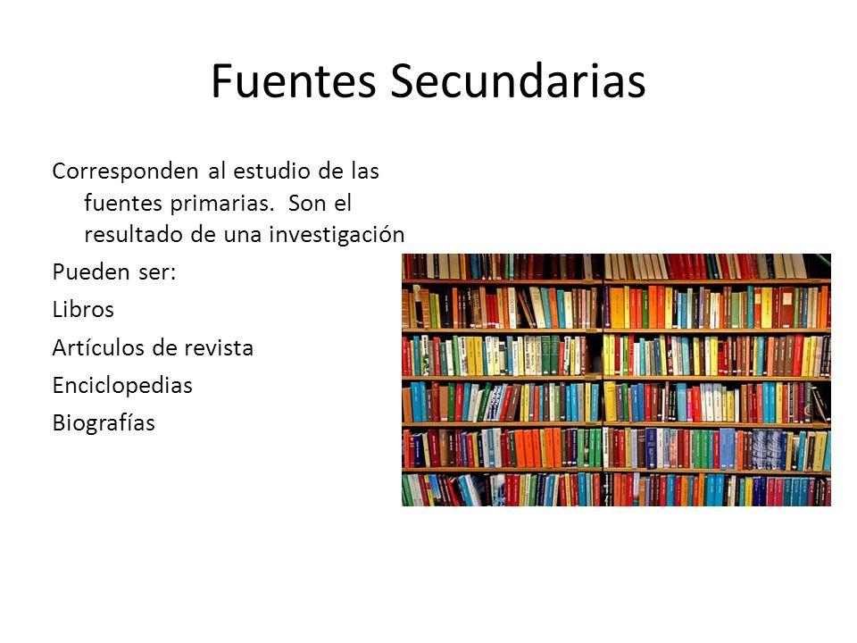 Fuentes Secundarias