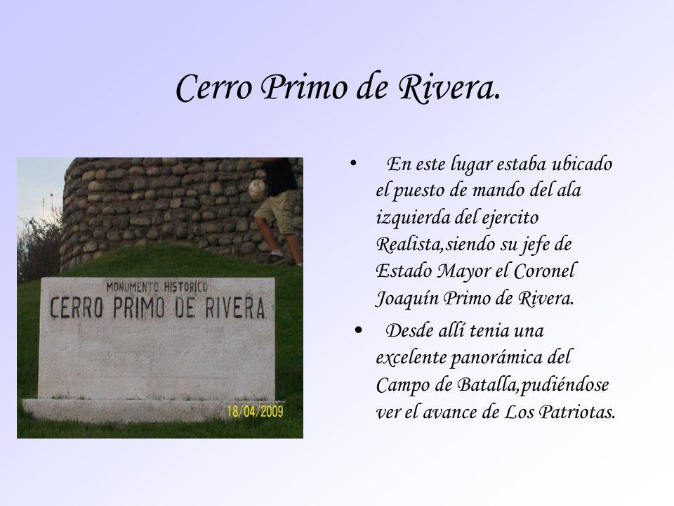 Cerro Primo de Rivera.