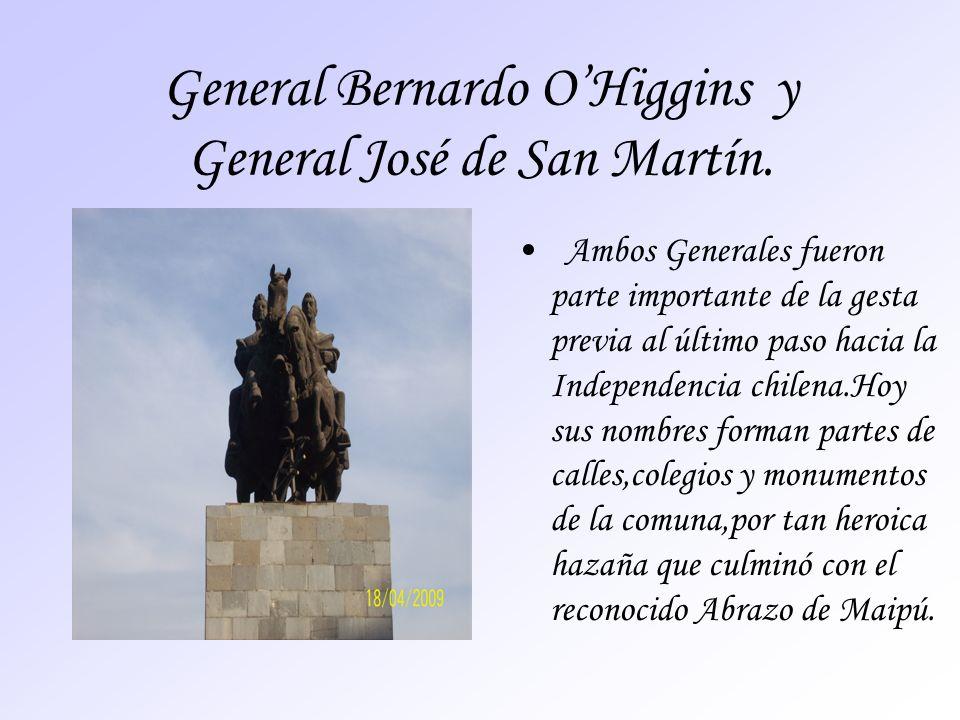 General Bernardo O'Higgins y General José de San Martín.