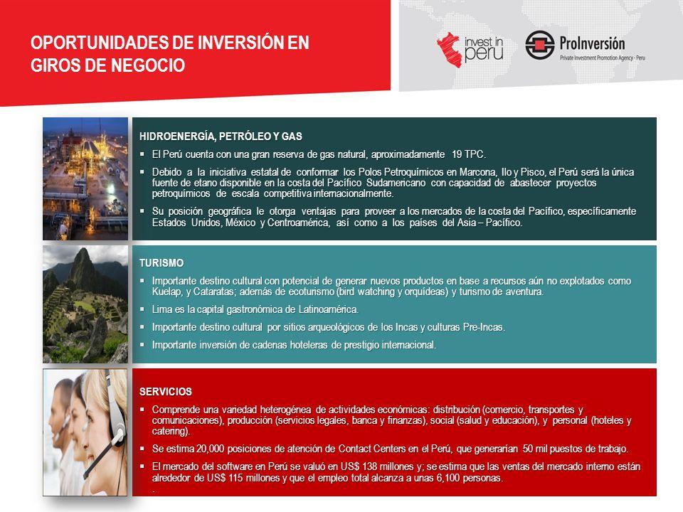 OPORTUNIDADES DE INVERSIÓN EN GIROS DE NEGOCIO